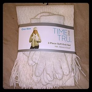 3 Piece Soft Knit Set Hat, Gloves & Scarf